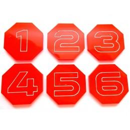 Jetons octogonaux numérotés...
