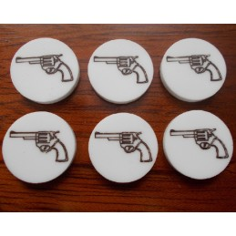 """Jetons """"Pistolet"""" (6)"""