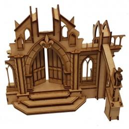 Porte de cathédrale en ruine