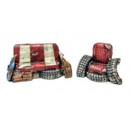Canapé et fauteuil pour...