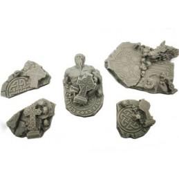 Morceaux de ruines celtiques