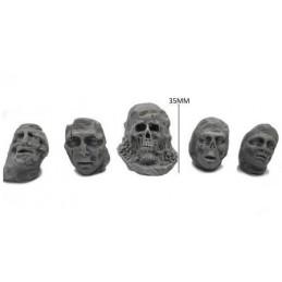 Têtes de statues maléfiques
