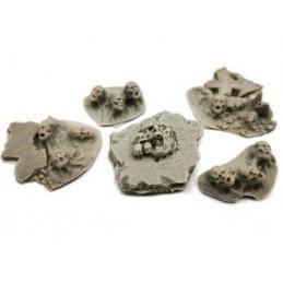 Morceaux de ruines chaotiques