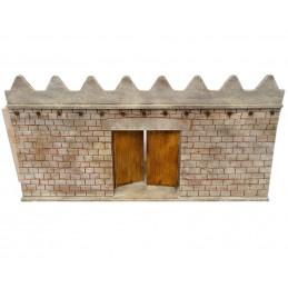 Mur long avec porte