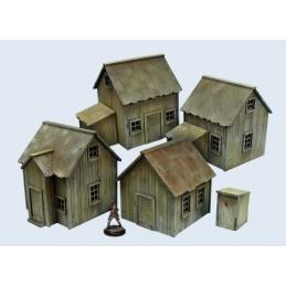 Set de 4 cabanes
