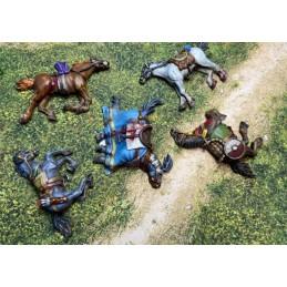 Chevaux morts ou blessés