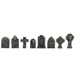 Lot de 8 pierres tombales
