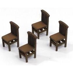 Lot de 4 chaises (A)
