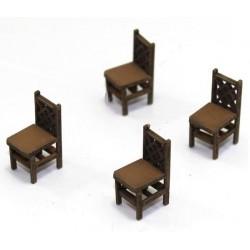 Lot de 4 chaises (D)