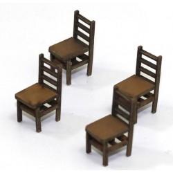 Lot de 4 chaises (E)