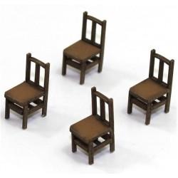 Lot de 4 chaises (F)