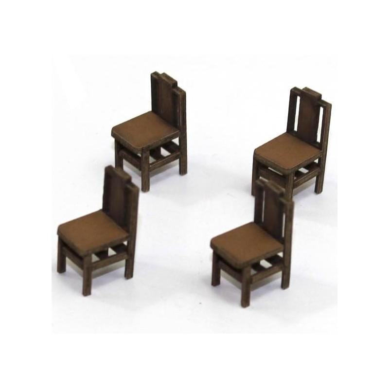 Lot de 4 chaises (H)