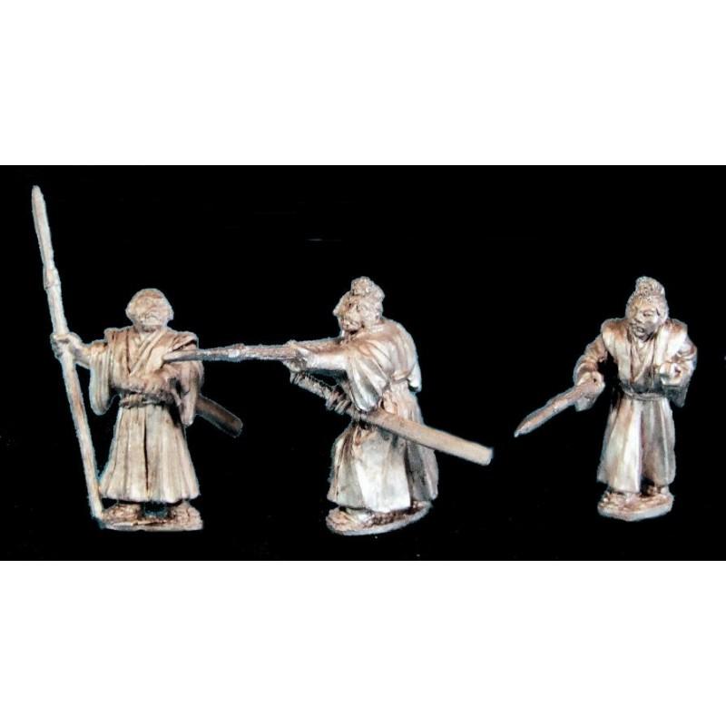 Samouraïs sans armure avec yari