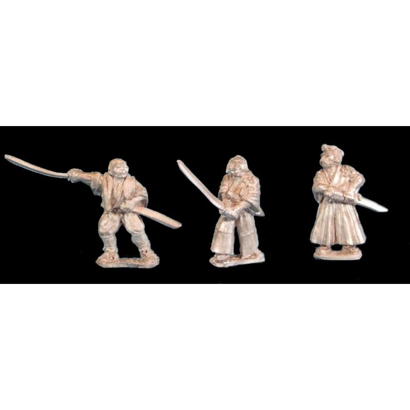 Samouraïs sans armure avec katana