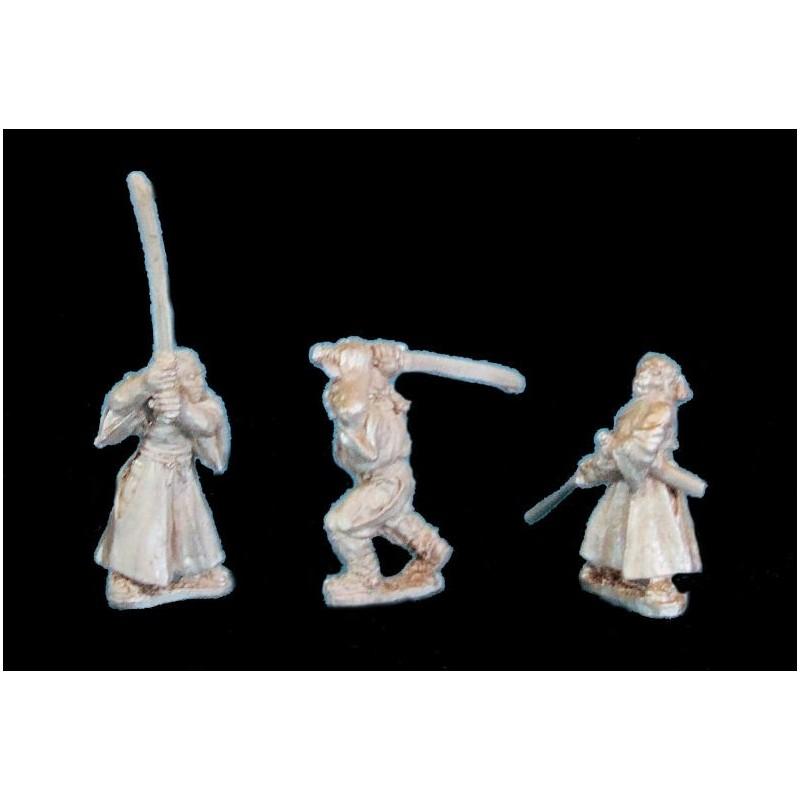 Samouraïs sans armure avec No-dachi