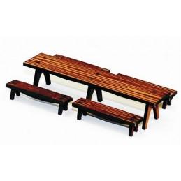 Longue table et bancs