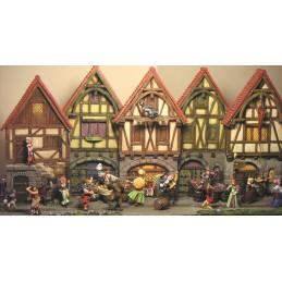 Façade de maison médiévale