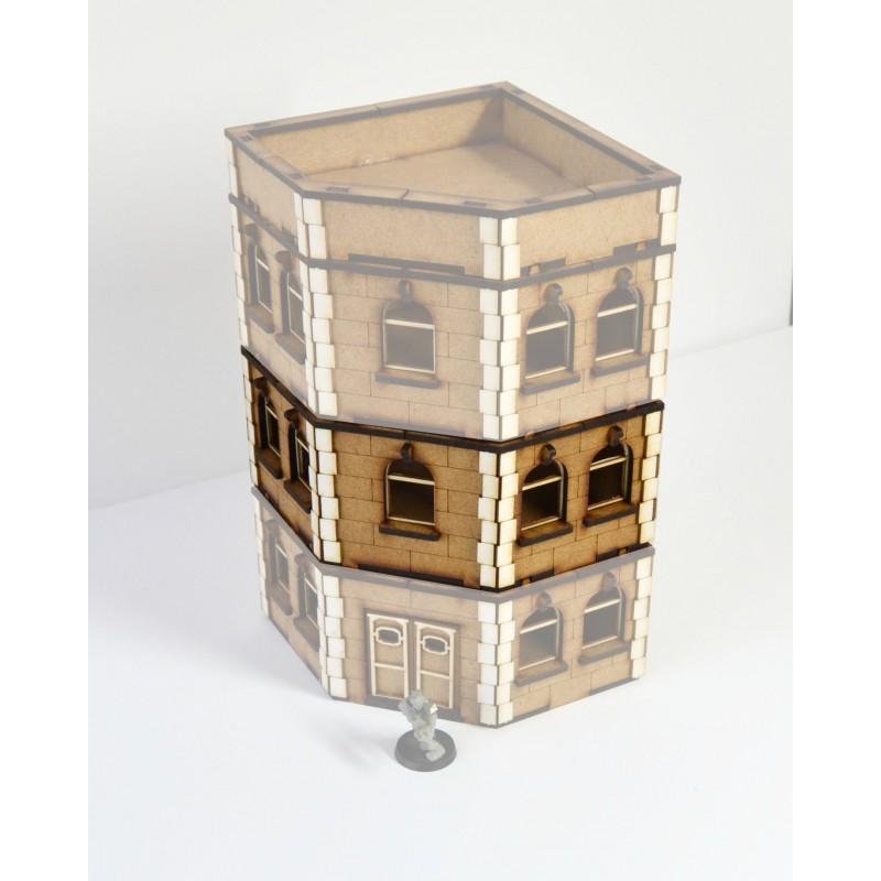 Bâtiment résidentiel en angle - étage supplémentaire
