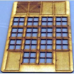 Maisons de ville attachées. Fenêtres option 4