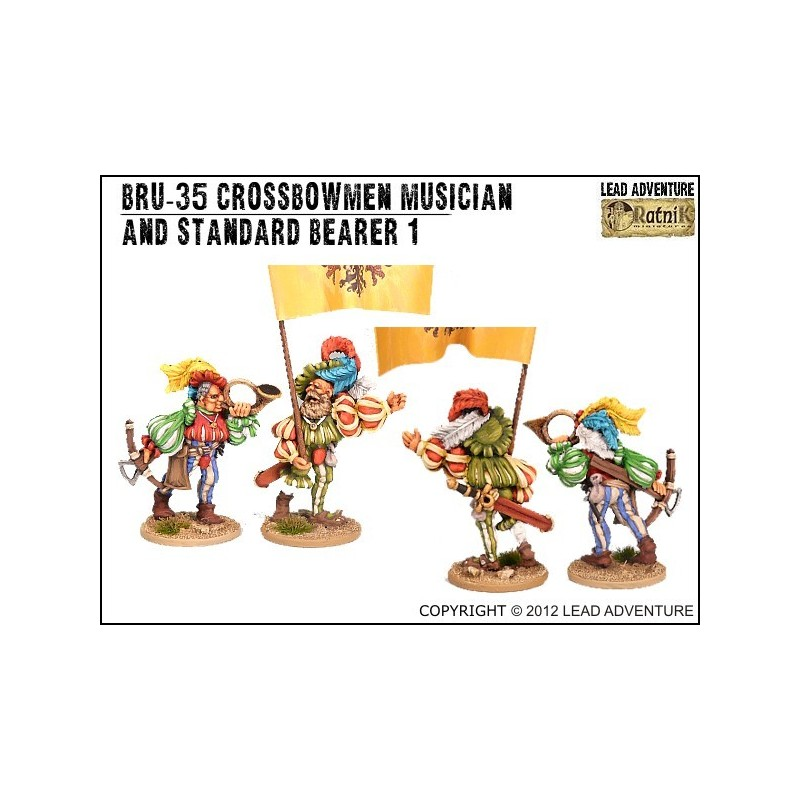 DRU-35 Étendard et musicien des arbalétriers