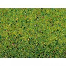 N00011 Feutrine herbe vert printemps fleuri 200cm x 100cm