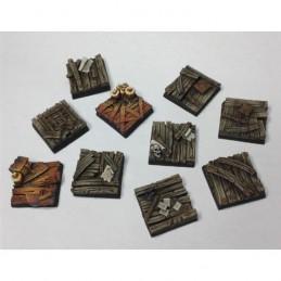 Bases carrées de 25 x 25mm