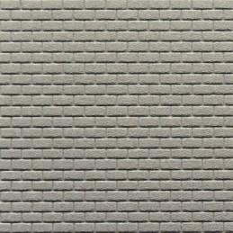Mur de briques lisses