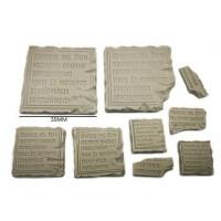 Tablettes en pierre pour temple