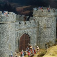 Château fort et engins de siège