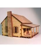 Bâtiments nord-américains et figurines