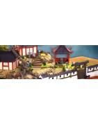 Bâtiments asiatiques, accessoires et figurines