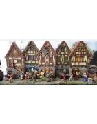 Bâtiments, décors et figurines médiéval-fantastiques